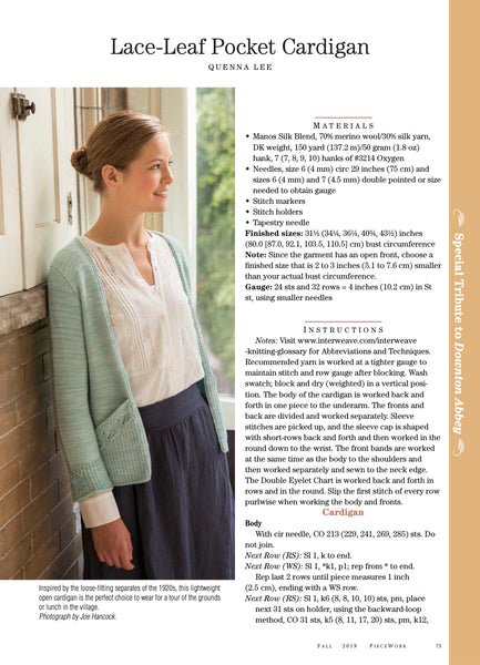 PieceWork Fall 2019 Print Edition