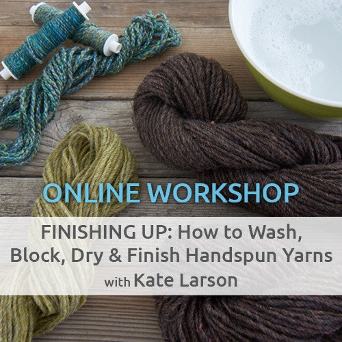Finishing Up: How to Wash, Block, Dry, and Finish Handspun YarnsImage