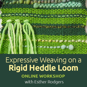 Expressive Weaving on a Rigid Heddle Loom Online WorkshopImage