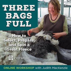 Three Bags Full: How to Select, Prepare, & Spin a Great Fleece with Judith MacKenzieImage