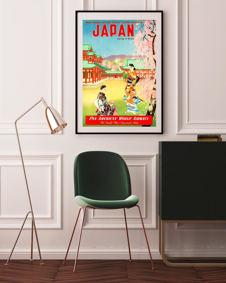 Spring In Kyoto – Pan Am - Blue Shaker - Poster Affiche -