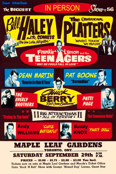 Bill Haley & The Platters - Blue Shaker - Poster Affiche -