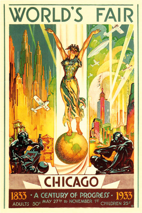 World Fair CHICAGO 1933 - BLUE SHAKER