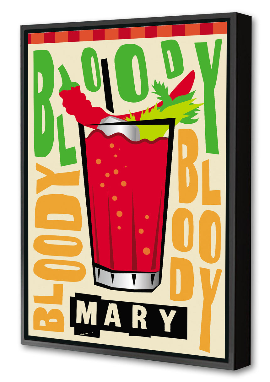 Bloody Mary - Blue Shaker - Poster Affiche -