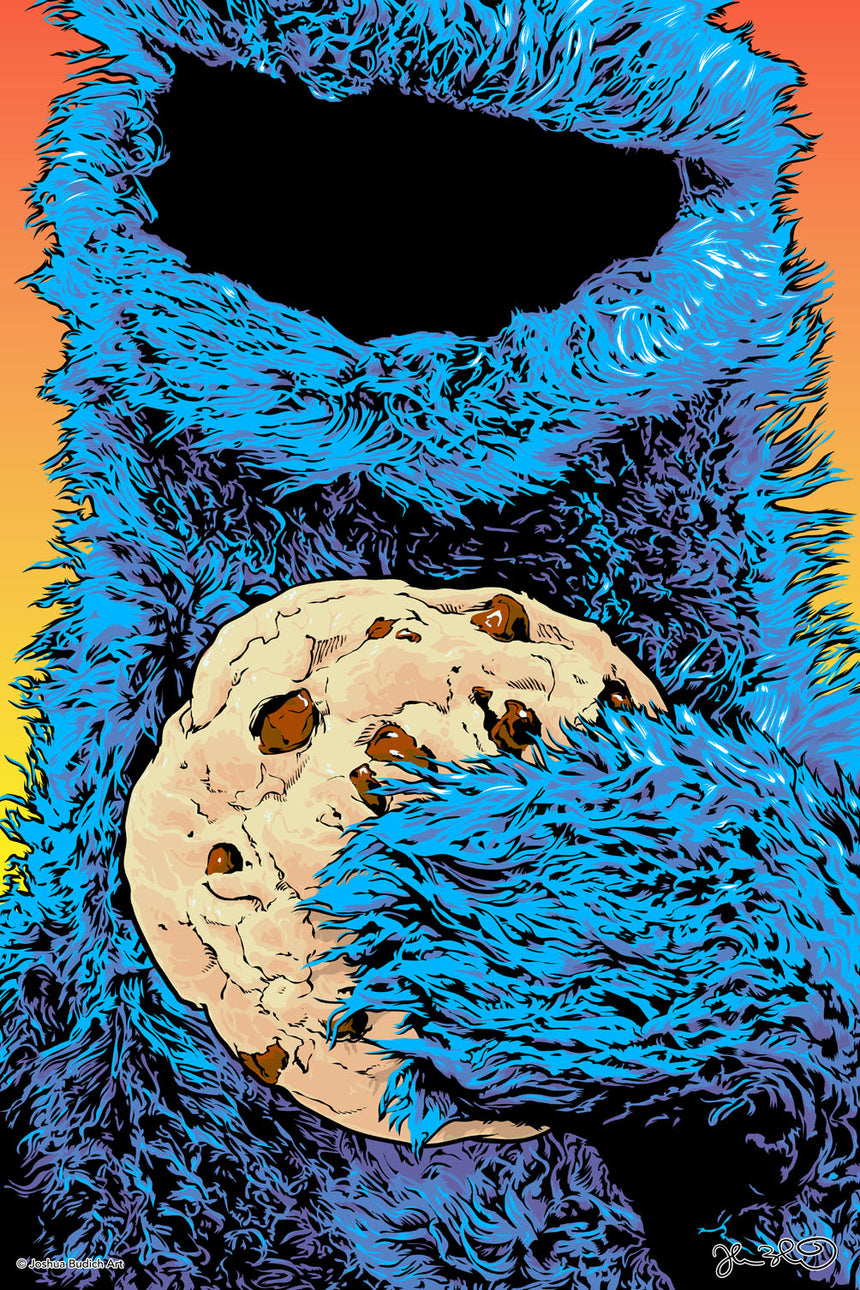 Cookie Monster - Blue Shaker - Poster Affiche -
