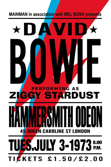 David Bowie - Blue Shaker - Poster Affiche -