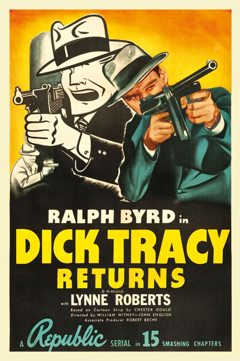 Dick Tracy - Blue Shaker - Poster Affiche -