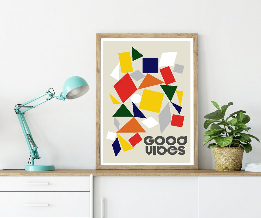 Good Vibes Pieces - Blue Shaker - Poster Affiche -