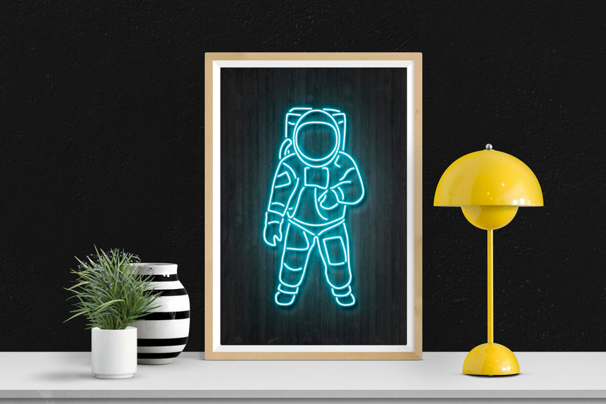 Astronaut - Blue Shaker - Poster Affiche -