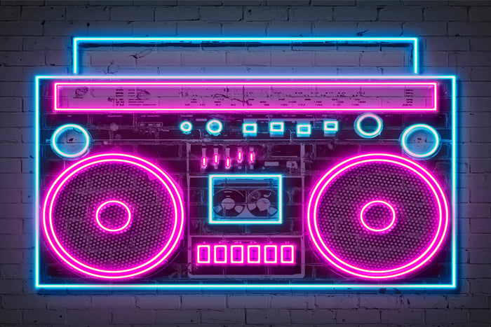 Boombox - Blue Shaker - Poster Affiche -