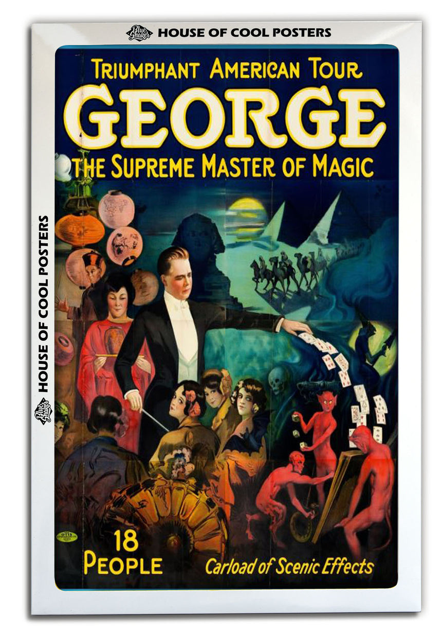 George - Supreme Master of Magic - Blue Shaker - Poster Affiche -