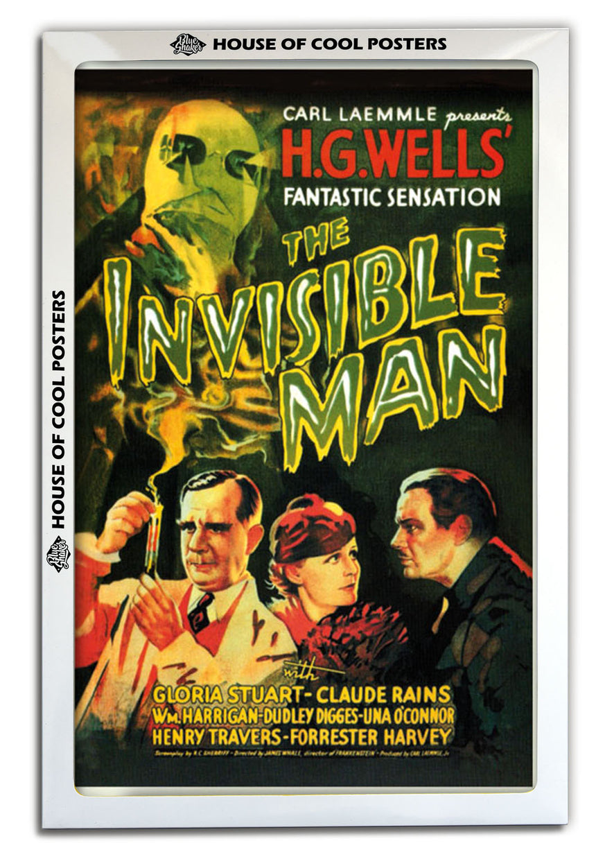 Invisible Man - Blue Shaker - Poster Affiche -