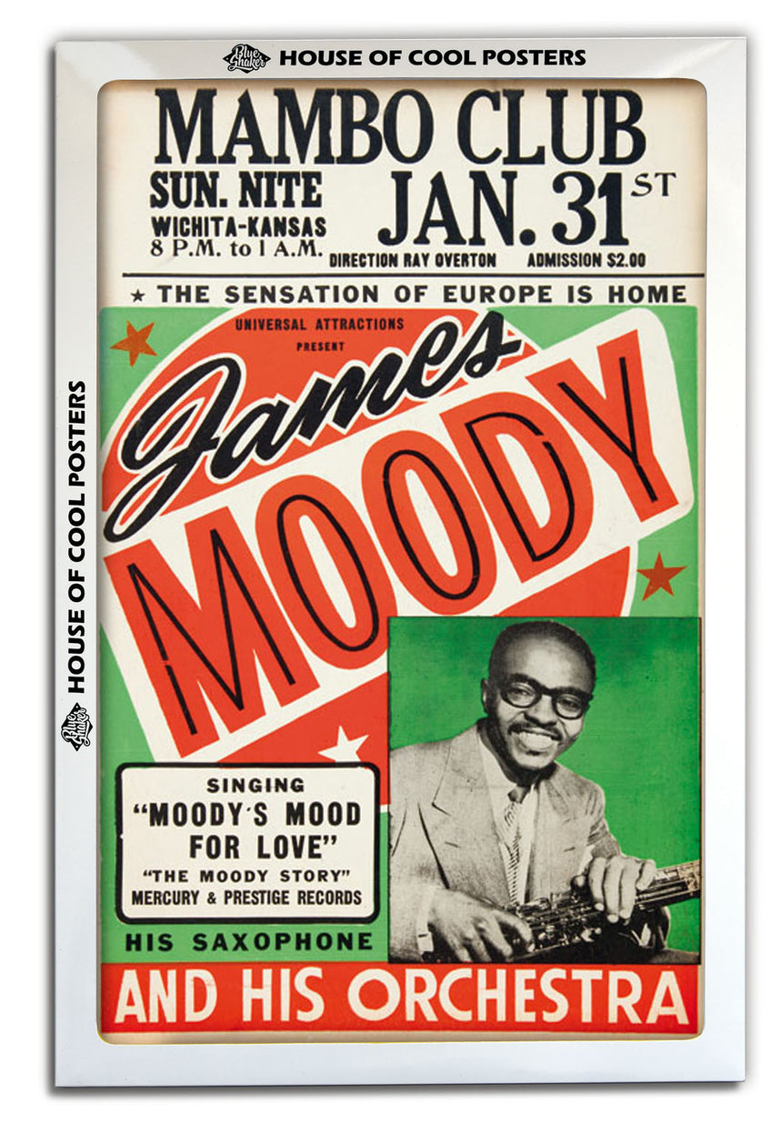 James Moody - Blue Shaker - Poster Affiche -