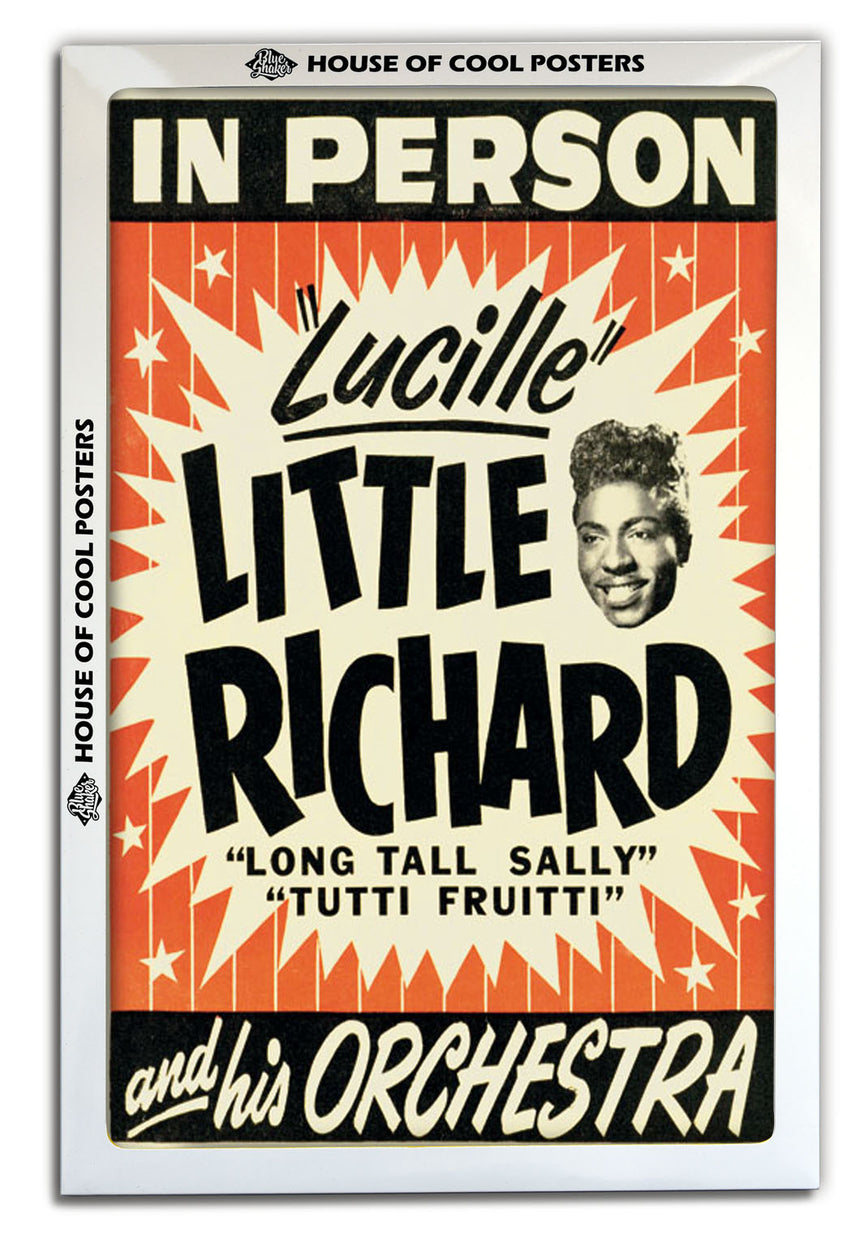 Little Richard - Blue Shaker - Poster Affiche -