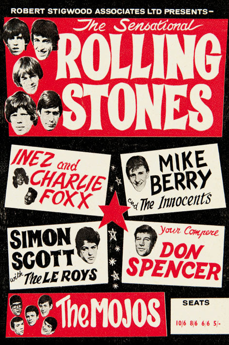 Rolling Stones - Blue Shaker - Poster Affiche -