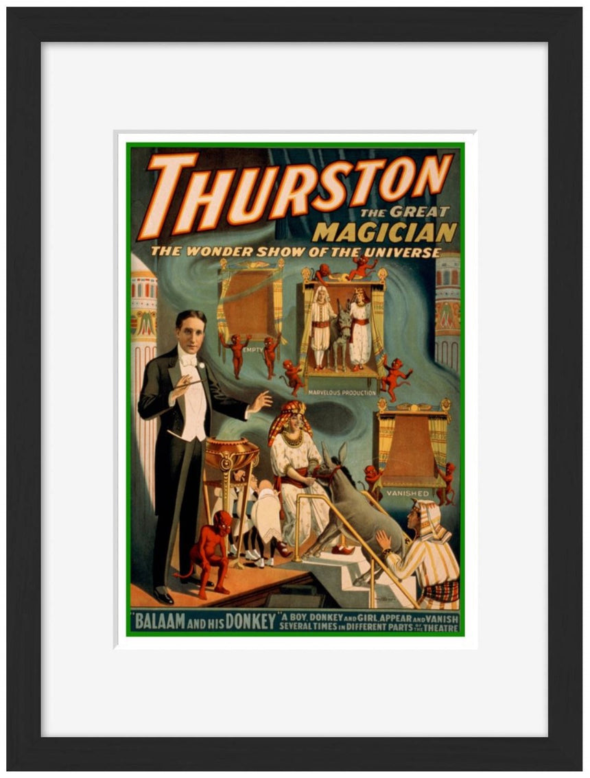 Thurston - Balaam and his Donkey - Blue Shaker - Poster Affiche -