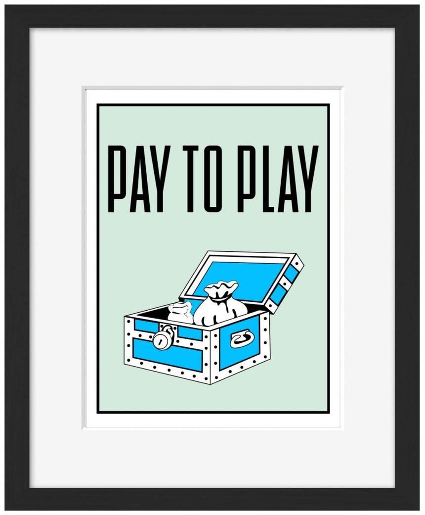 Pay to Play - Blue Shaker - Poster Affiche -