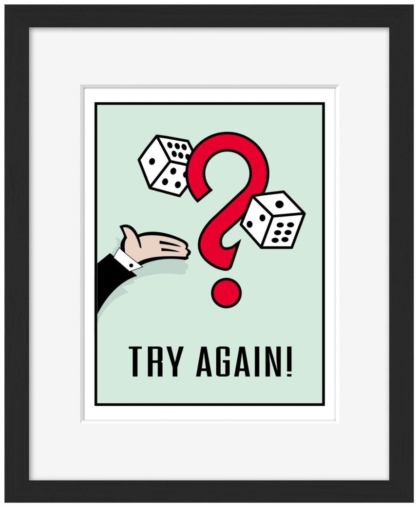 Try Again - Blue Shaker - Poster Affiche -