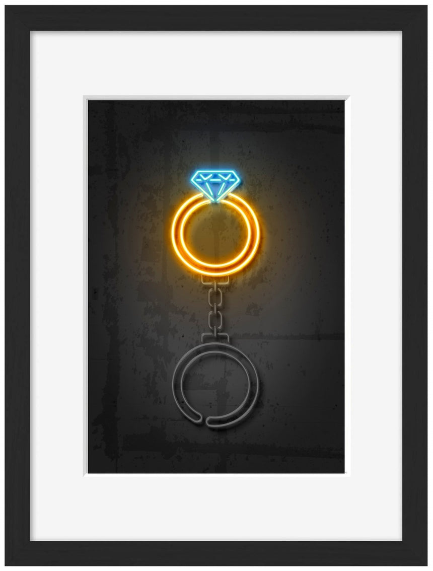 Diamond Ring - Blue Shaker - Poster Affiche -