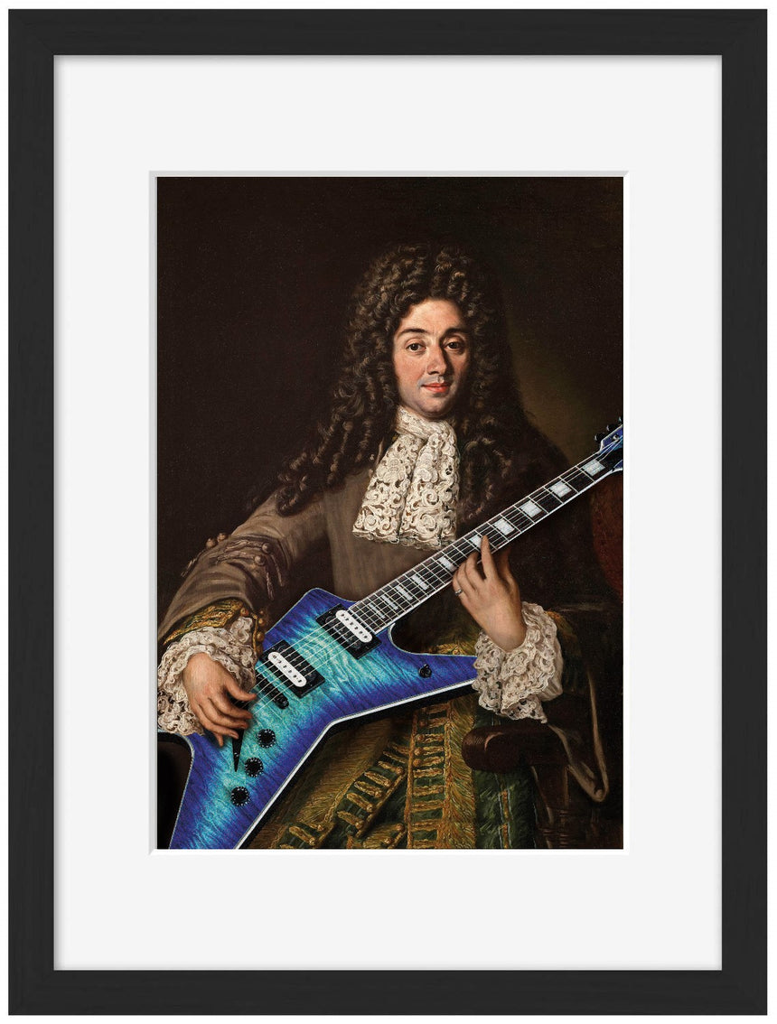 Guitare 4 - Blue Shaker - Poster Affiche -