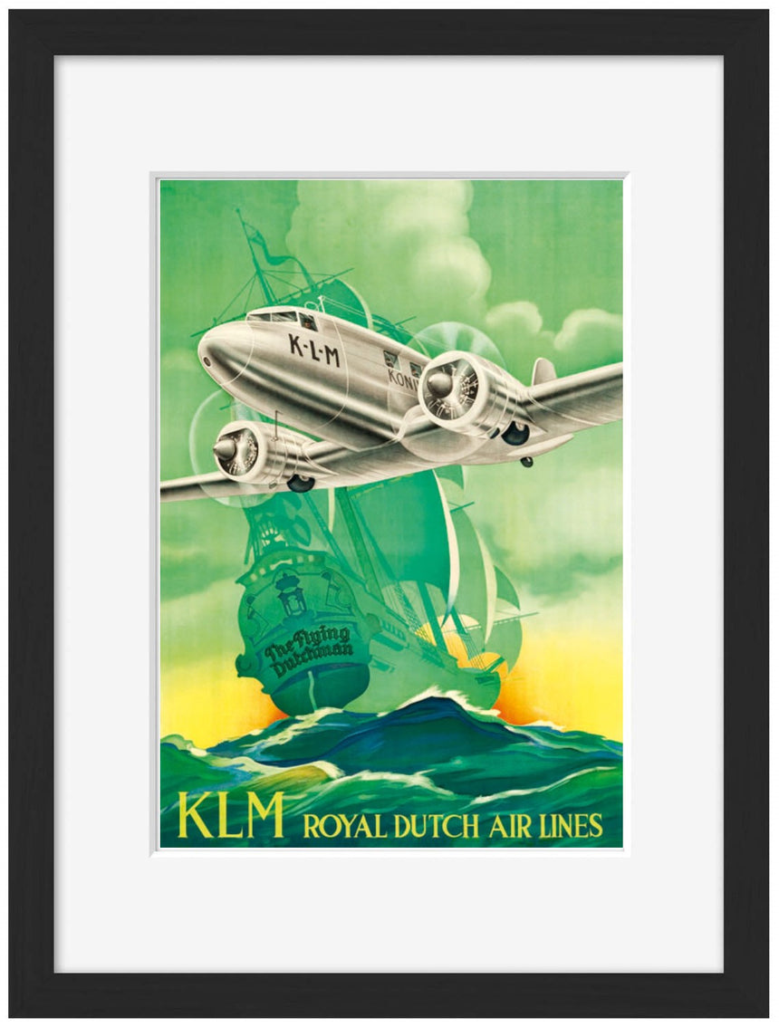 KLM Royal Dutch Air Lines - Blue Shaker - Poster Affiche -
