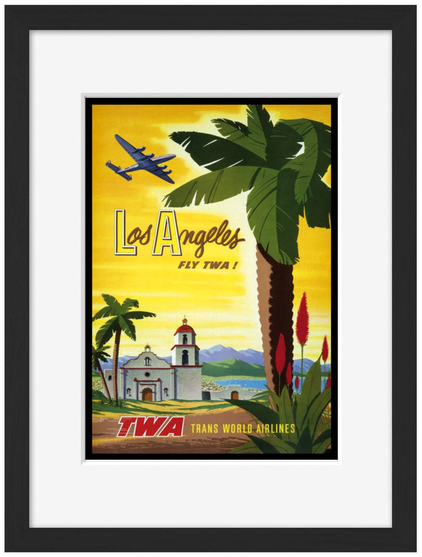 Los Angeles TWA - Blue Shaker - Poster Affiche -
