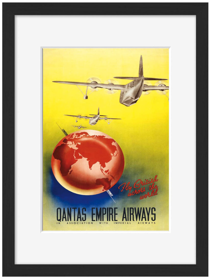 Qantas Empire Airways - Blue Shaker - Poster Affiche -