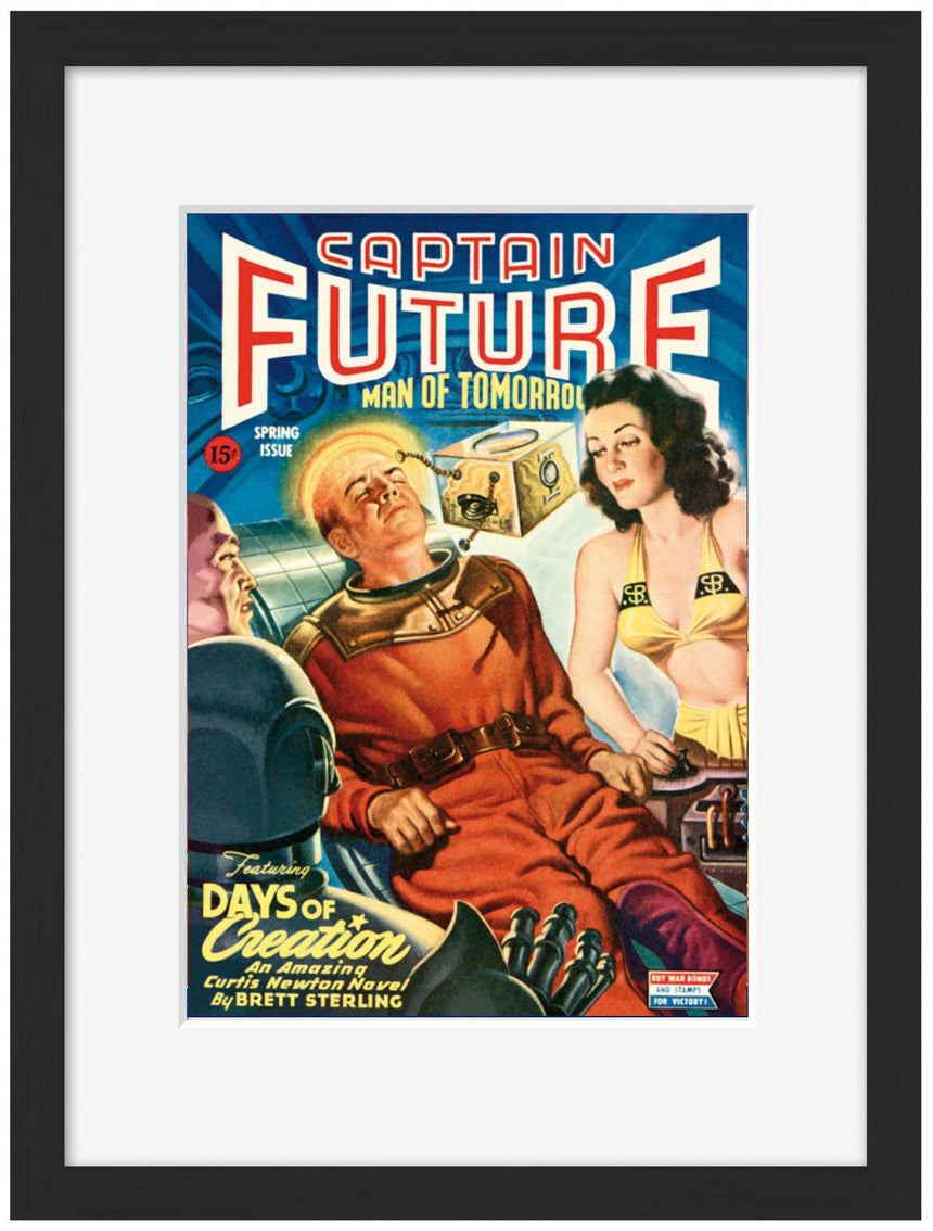 Captain Future - Man of Tomorrow - Blue Shaker - Poster Affiche -