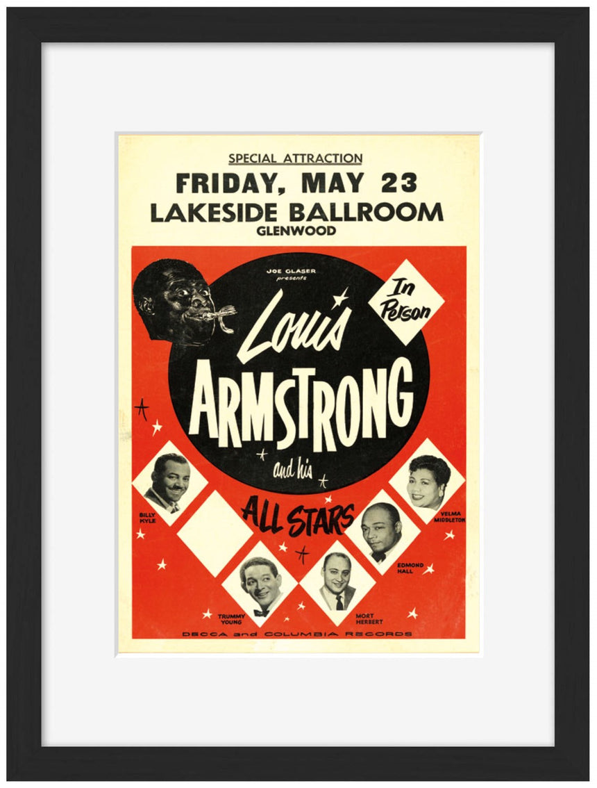 Louis Armstrong - Blue Shaker - Poster Affiche -