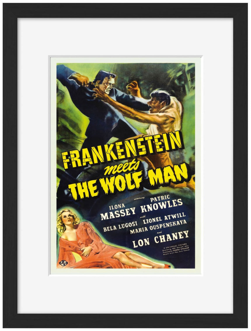 Frankenstein meets the Wolf Man - Blue Shaker - Poster Affiche -