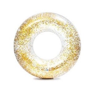 Intex Transparent glitter badering - Guld