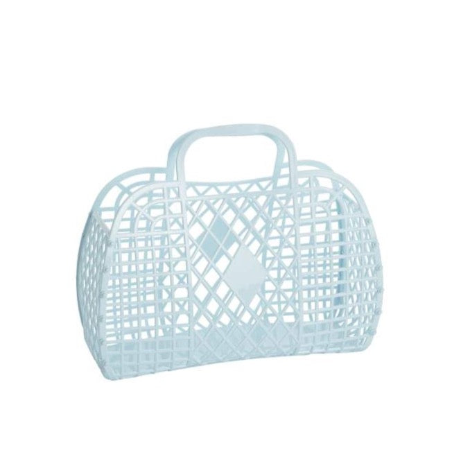 Sun Jellies Retro Basket LARGE - Blue