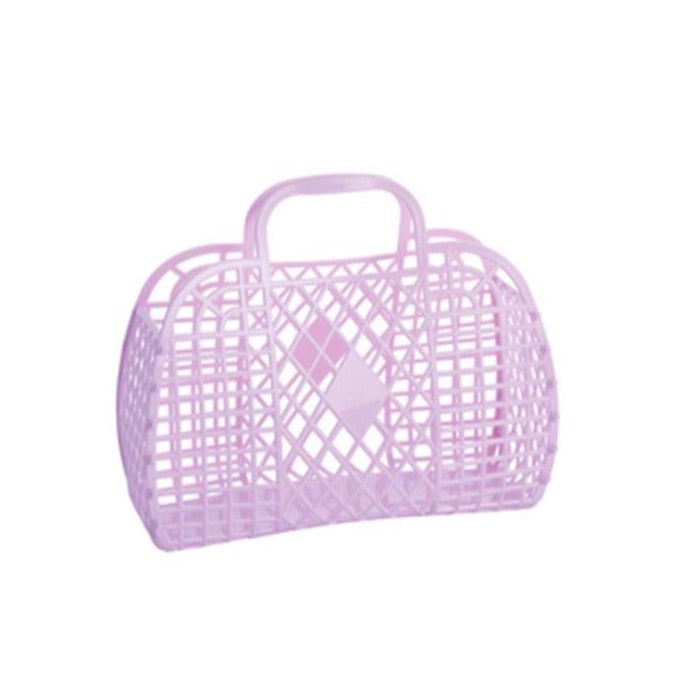 Sun Jellies Retro Basket LARGE - Lilac