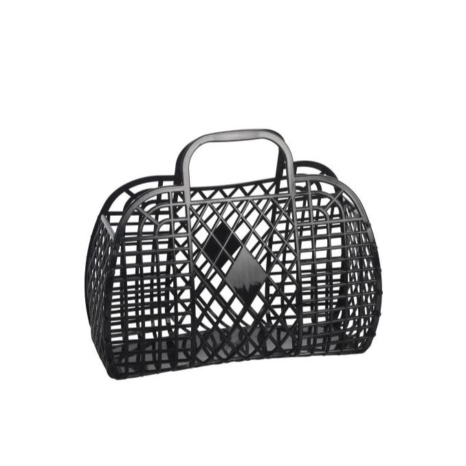Sun Jellies Retro Basket LARGE - Black