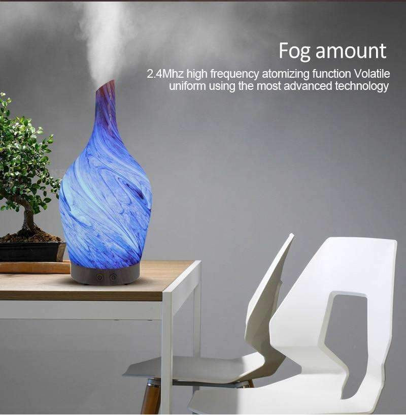 100ml Glass Marble Vase Humidifier - LiquidDiffuser