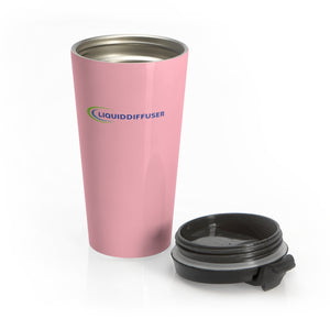Pink Stainless Steel Travel Mug - LiquidDiffuser