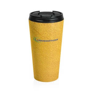 Yellow Stainless Steel Travel Mug - LiquidDiffuser