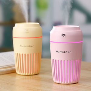300ml Ultrasonic Humidifier Colorful Cup LED - LiquidDiffuser