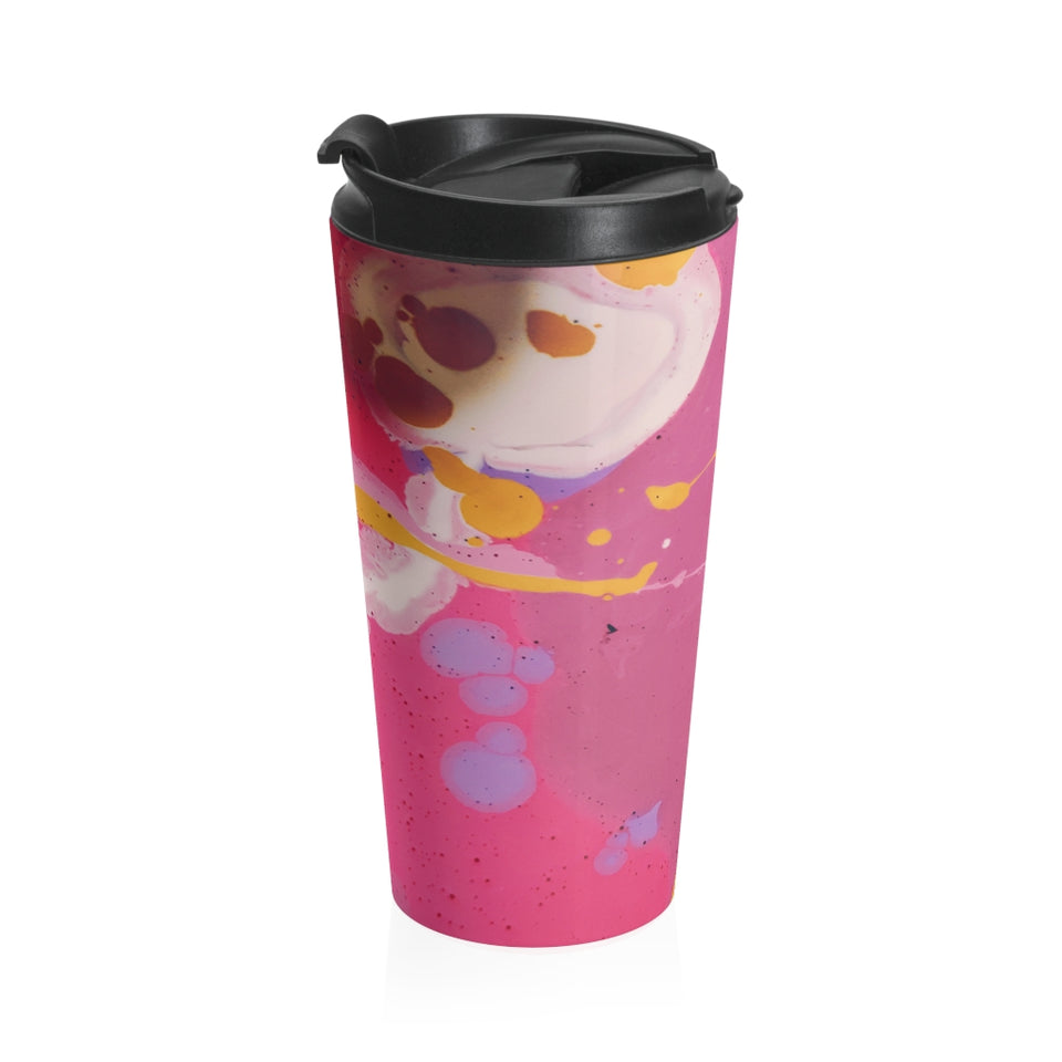 Pink Abstract Stainless Steel Travel Mug - LiquidDiffuser