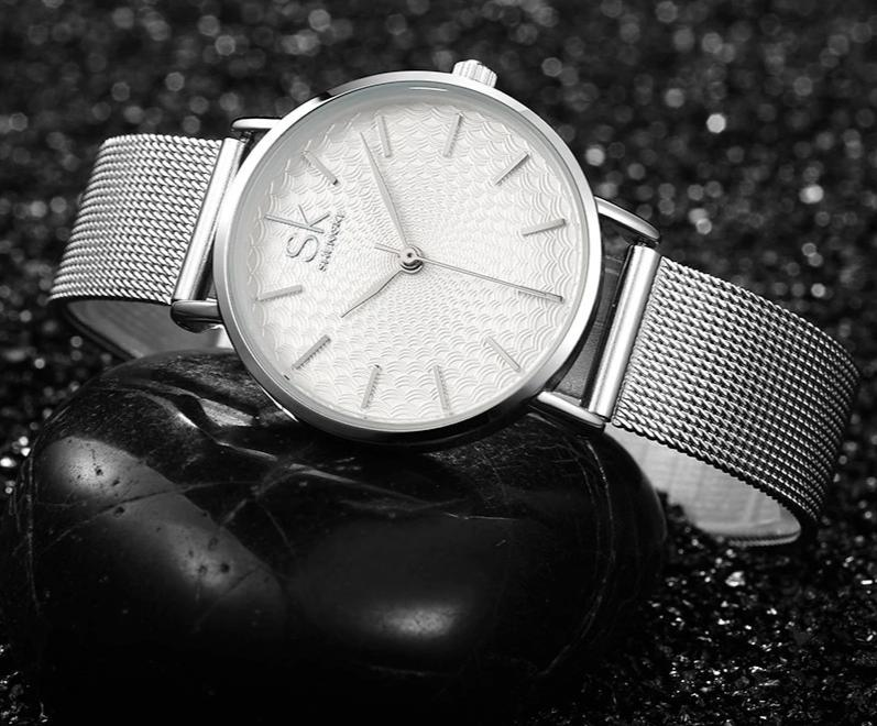 Women Simple Mesh Bracelet Watch - LiquidDiffuser