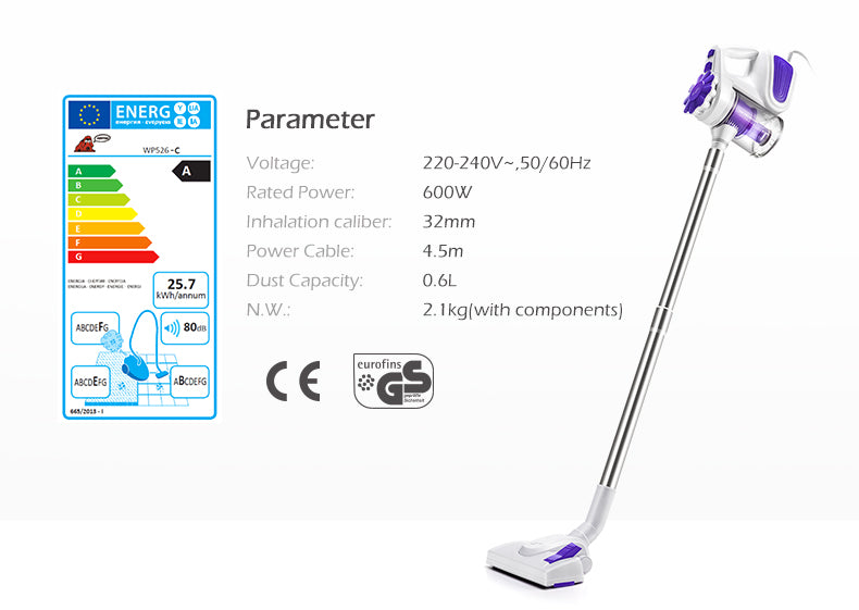 Portable 600W Household Vacuum Cleaner - LiquidDiffuser