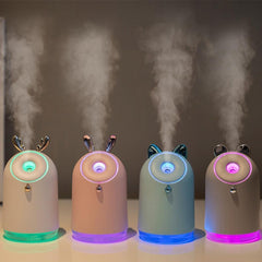 250ml Cute Deer Air Purifier Humidifier Diffuser