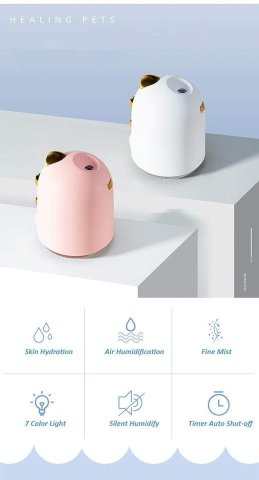 250ml Cute Dinosaur Ultrasonic Humidifier - LiquidDiffuser