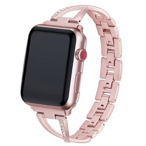 Diamond Stainless Steel Apple Watch Strap - LiquidDiffuser