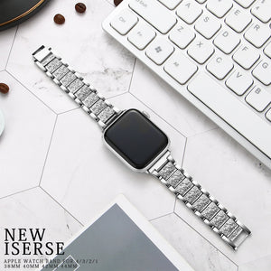 Diamond Stainless Steel Strap for Apple Watch - LiquidDiffuser