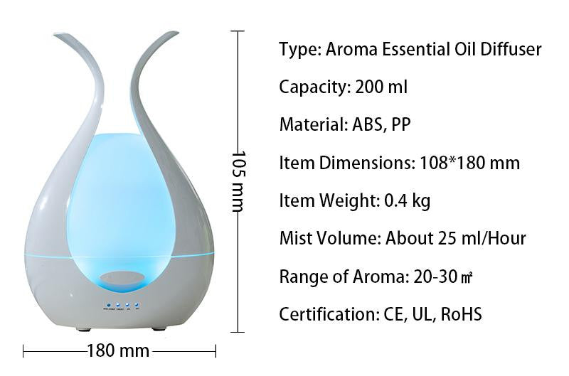 200ml Ultrasonic Flower Humidifier - LiquidDiffuser