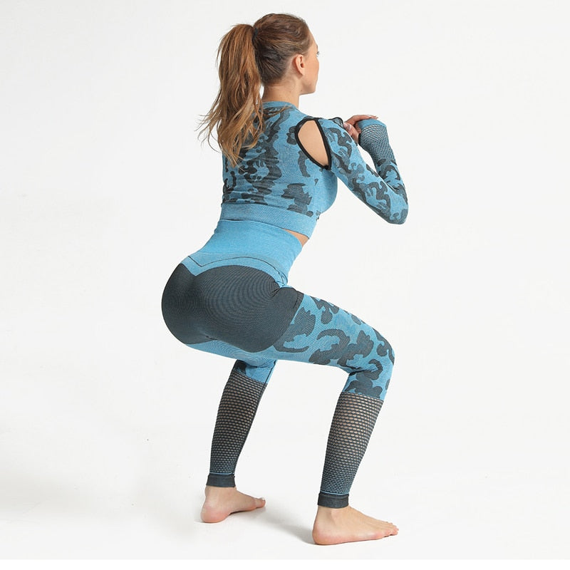 Women Sport Camouflage Workout Clothes