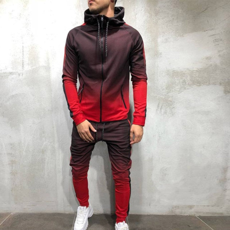 Men's Zipper Sweatshirt Set