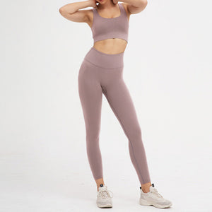 2 Piece Set Workout Clothes for Women Sports Bra and Leggings Set Sports Wear for Women Gym Clothing Athletic Yoga Set - LiquidDiffuser
