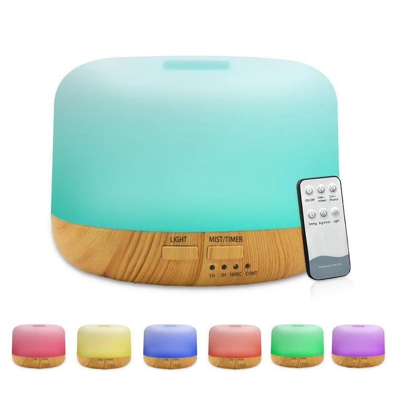 300ml Wood Grain Ultrasonic Air Humidifier - LiquidDiffuser